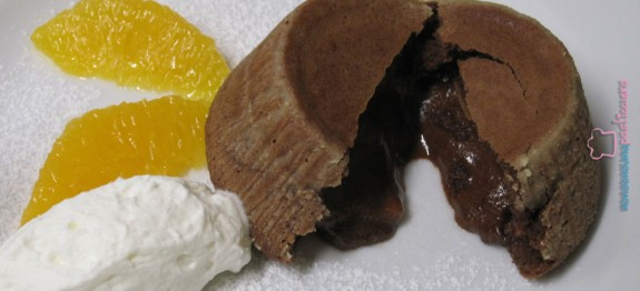 Tortino morbido cioccolato cuore fondente