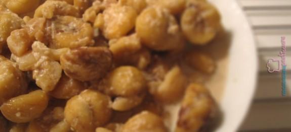 Biline: castagne secche cotte nel latte