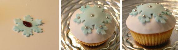 Cucinare cupcake fiocco di neve