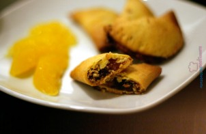 Biscotti mezzelune arancia e cioccolato