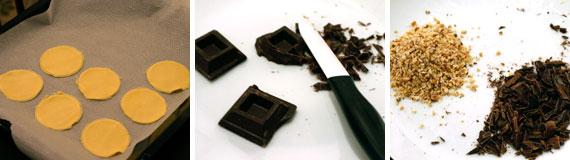 mezzelune arancia e cioccolato