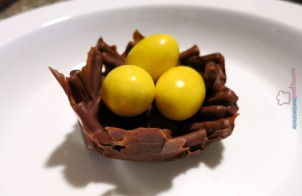 Nidi di cioccolato Pasqua
