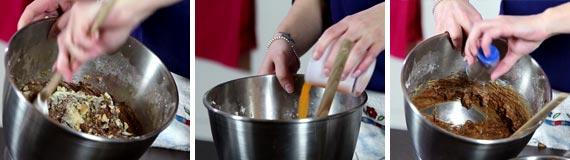 Preparazione torta caprese