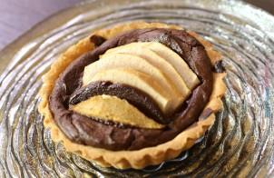 Crostatina ricotta, pere e cioccolato