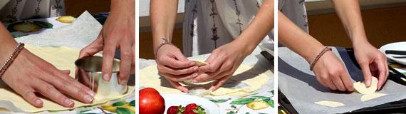 Sfogliatine nutella e frutta fresca