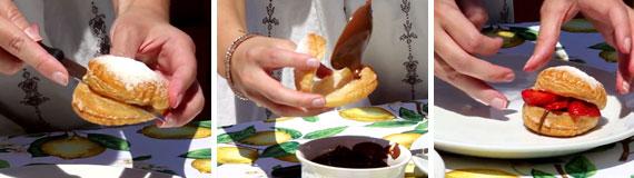 Sfogliatine nutella e frutta