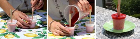 Preparare i ghiaccioli allo yogurt