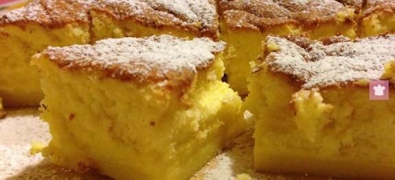 Torta magica con tre strati