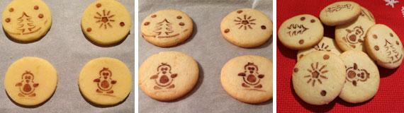 biscotti natalizi decorati con cacao