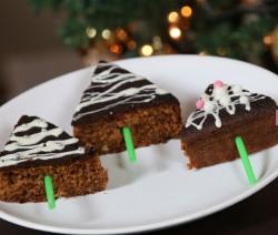 Alberelli di Natale di cioccolato