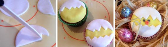 Cupcake pulcino di Pasqua