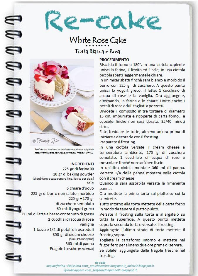 Recake torta di rose