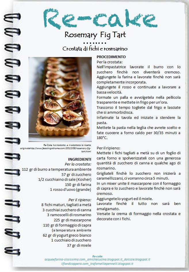Re-cake crostatine rosmarino fichi