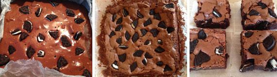 brownies con gli oreo