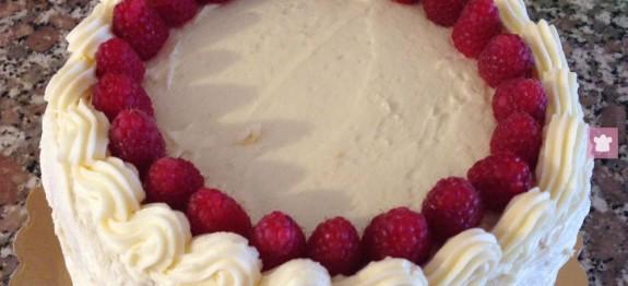 Torta lamponi crema mascarpone