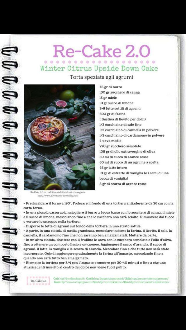 Re-cake torta speziata agli agrumi